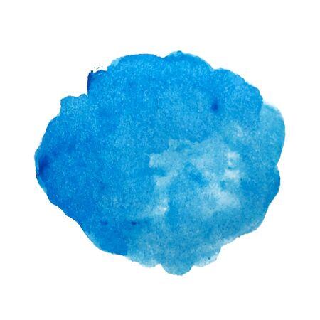 Illustration pour Blue watercolor stain vector - image libre de droit