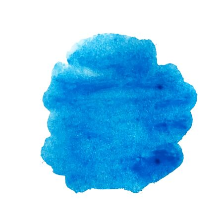 Illustration for Blue watercolor stain vector - Royalty Free Image