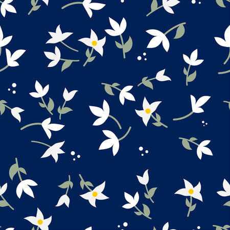 Illustration for Beautiful floral seamless pattern vector - Royalty Free Image