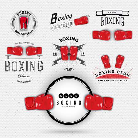 Boxing badges labels can be used to fashion design, signs for sports clubs, sales