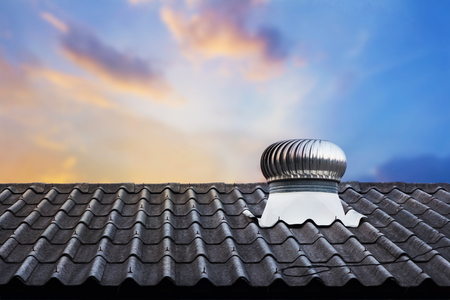 Roof top ventilation system for heat control