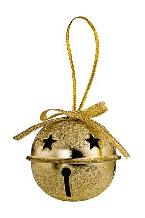 Foto für Gold Christmas Jingle Bell isolated on white background - Lizenzfreies Bild