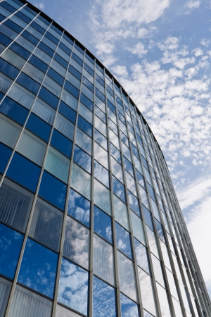 Modern office building with blue sky