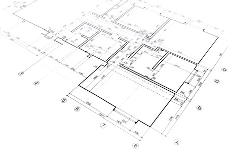 house plan blueprint architectural drawing part of architectural project