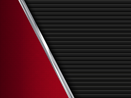 Black and red  metal backgrounds. Abstract vector illustration EPS10