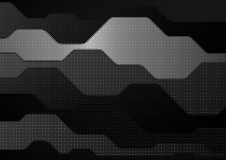 Illustration pour Abstract technology background. Black and white geometric background. EPS10 - image libre de droit