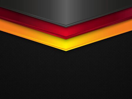 Illustration for Metal texture background. Vector metallic banner. Abstract Germany flag. EPS10 - Royalty Free Image