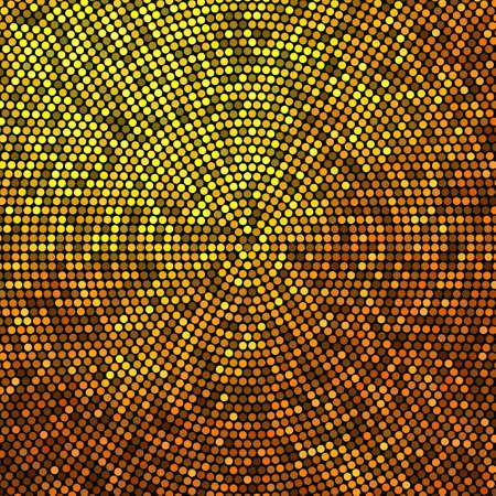 Illustration for Gold glitter halftone background. Luxury design. Vector illustration EPS10 - Royalty Free Image