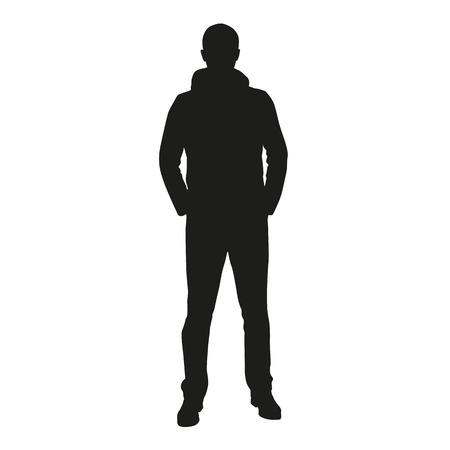 Illustration pour Man silhouette - image libre de droit