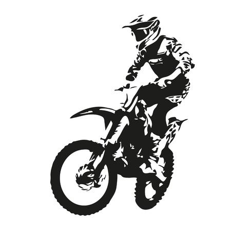 Illustration pour Motocross rider silhouette - image libre de droit