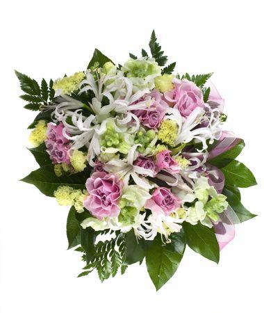 Spetsial delivery flowers - studio shot ower white