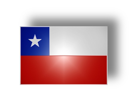 National flag and ensign of Chile  stylized I