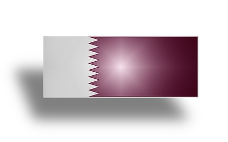 Current national flag and ensign of Qatar  stylized I