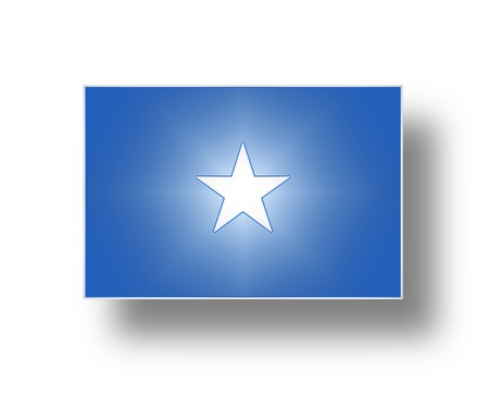 National flag and ensign of the Federal Republic of Somalia  stylized I