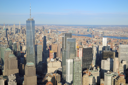 Photo for View of Manhattan from helicopter. - Royalty Free Image