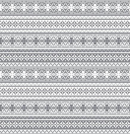 Illustration pour fair isle snowflake pattern suitable for website resources, graphics, print designs, fashion textiles, knitwear and etc. - image libre de droit