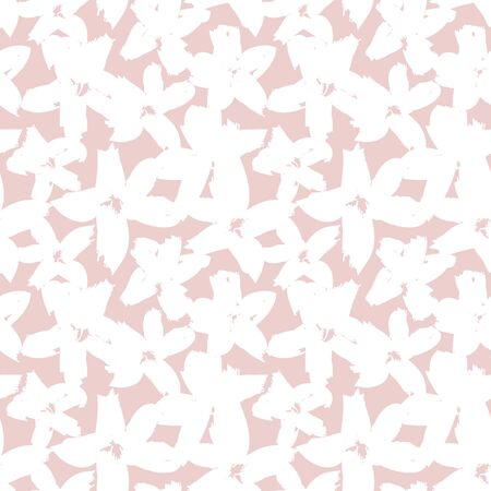Illustration pour Pink Floral brush strokes seamless pattern background for fashion prints, graphics, backgrounds and crafts - image libre de droit