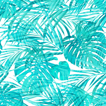 Illustration pour Seamless neo camouflage tropical summer pattern, vector illustration - image libre de droit