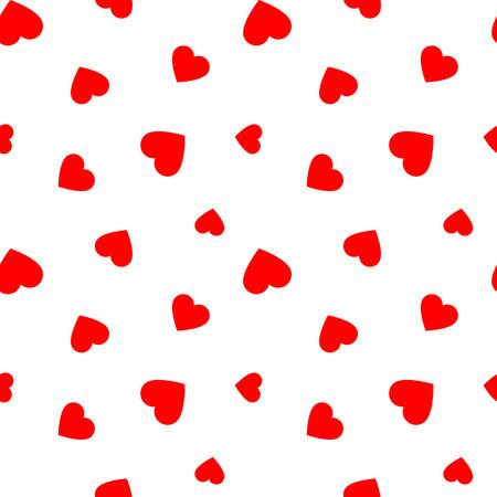 Ilustración de Seamless pattern with red hearts, illustration - Imagen libre de derechos