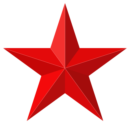 Illustration pour Red star 3D shape - image libre de droit