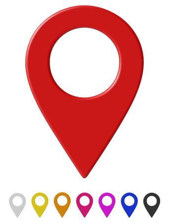 Illustration pour Map pointer Vector illustration. - image libre de droit