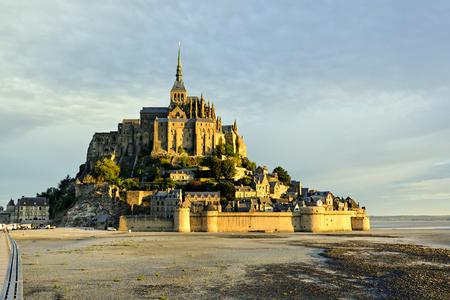 Sunrise in Le Mont Saint-Michel in Normandy, France
