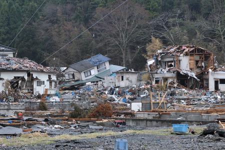 Photo pour The outbreak of the unprecedented Great East Japan Earthquake and tsunami - image libre de droit