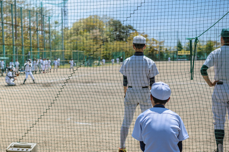 Photo pour Scenery of the baseball game - image libre de droit