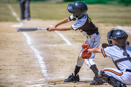Photo pour Baseball kids - image libre de droit