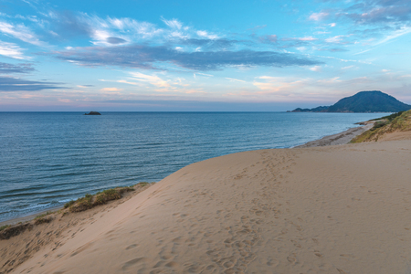 Photo for Evening scenery of the Tottori Sand Dunes - Royalty Free Image