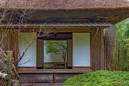 Foto de Sanyoshitsu Teahouse of Chido Museum in Tsuruoka city - Imagen libre de derechos
