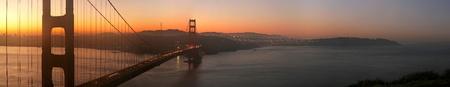 Sunrise Over Golden Gate Bridge Wall Mural