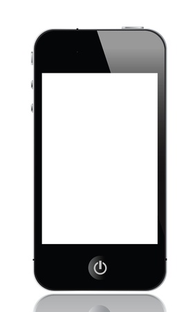 illustration of smartphone, vector format.