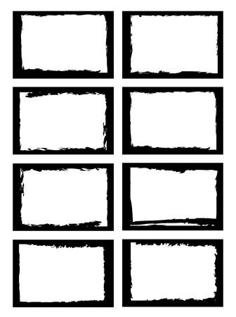 Illustration pour a set of grunge style border, use for photo frame or other usage. - image libre de droit