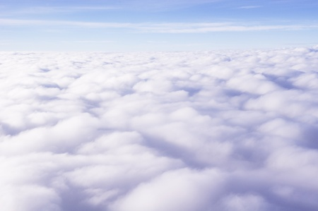 Photo of clouds taken from above