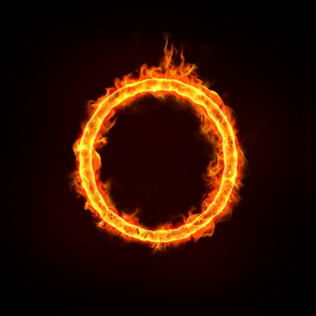 jumping over the fire ring, for business concepts.