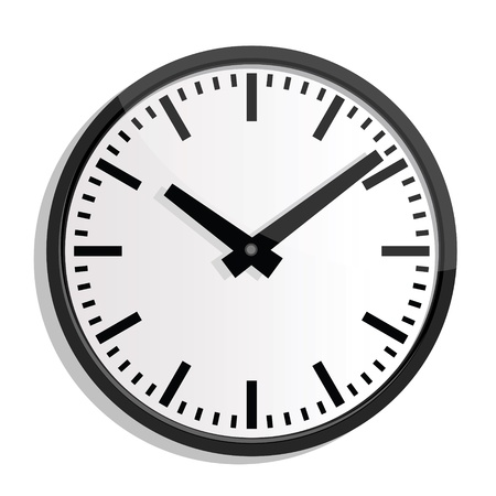 Illustration pour illustrations of wall clock. - image libre de droit