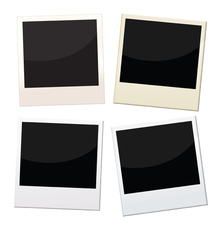 Polaroid frames, 4 pieces of polaroid with different conditions.