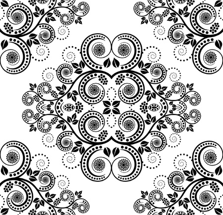 pattern seamless with plant decoration
