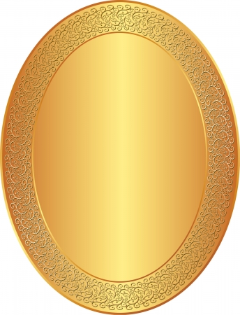 oval golden background with ornaments