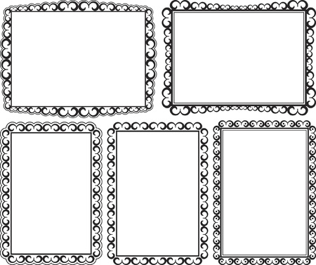 rectangular border