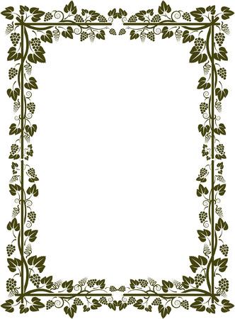 silhouette of vine frame