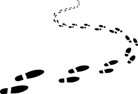 Illustration for receding footprints - Royalty Free Image