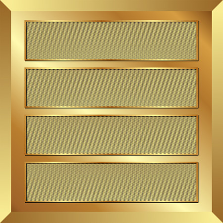 four textured banners on golden background