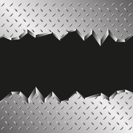jagged metallic background