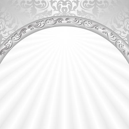 Illustration pour white background with silver ornaments - image libre de droit