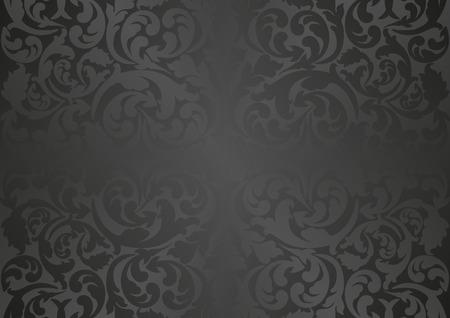 Illustration pour black background with antique ornaments - image libre de droit