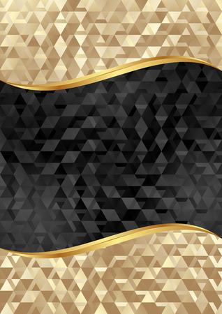Illustration pour golden and black textured background - image libre de droit