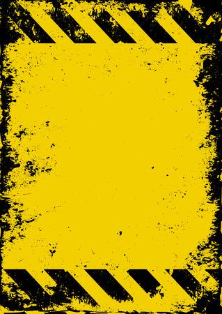 Illustration pour grunge hazard background - image libre de droit
