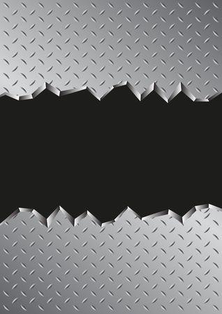 jagged metal background